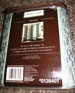 Allen Roth Vernon Window Curtain Drapery Drape Grommet Panel 56x84