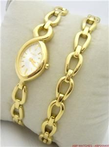 Timex Ladies Gold Plated Watch Bracelet Set RRP £49
