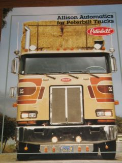 Vintage Peterbilt Allison Transmission Semi Truck Brochure Literature