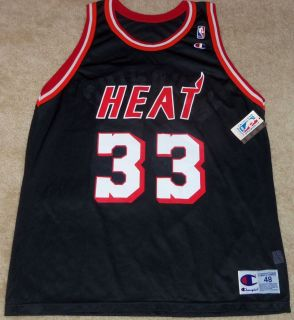 NEW VINTAGE ALONZO MOURNING MIAMI HEAT CHAMPION JERSEY 48 NWT