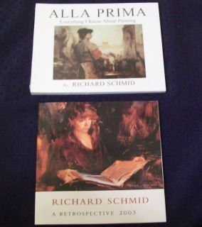 Richard Schmid art books Alla Prima & Retrospective oil painting