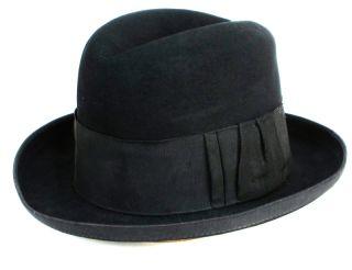 5aceda509f00d ... Vintage 1910s Miller Allaire New York Mens Fedora Homburg Hat Size 7 ...