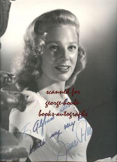 June Allyson 10x13 Vintage Signed Glamour Portrait 1945