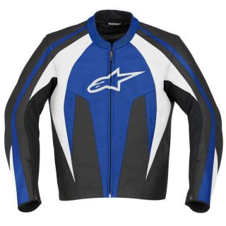 alpinestars stunt leather jacket blue 50 usa 60 euro the stunt leather