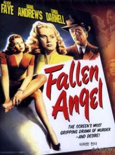 Fallen Angel 1945 DVD New Alice Faye Otto Preminger