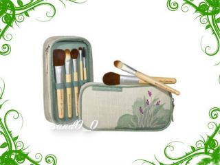 Brush Set and Natural Recycled Makeup Bag by Alicia Silverstone