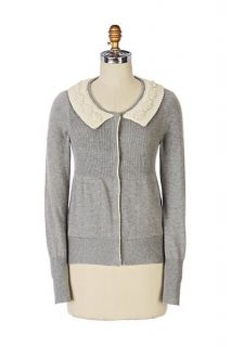 Anthropologie Field Flower Brown Allaire Cardigan Cashmere Sweater