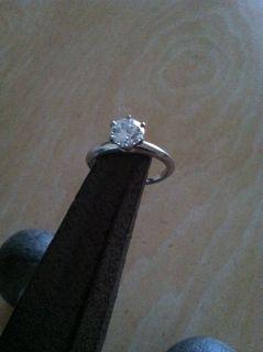 Tiffany Co Platinum Diamond Engagement Ring D VVS2 1 20 Size 8 GIA