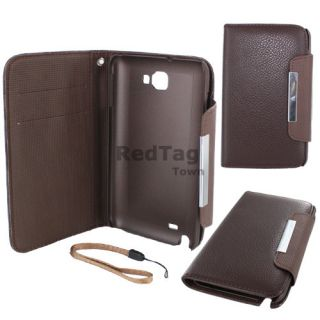 Leather Wallet Case Cover w Inner Card Slot For Samsung Galaxy Note