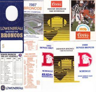 NFL Football Schedules 1976 2011 Lyle Alzado Brian Dawkins