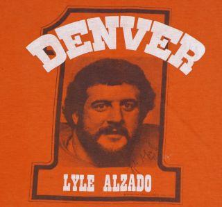 Vintage 1970s Lyle Alzado Denver Broncos NFL Football T Shirt 70s