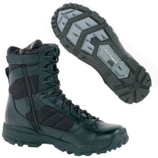 ALTAMA Mens 8 Litespeed Side Zip Boots 3454 Black Brand New