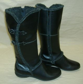 Womens 7 M Hush Puppies Black Amarone Tall Winter Boots  15 High w