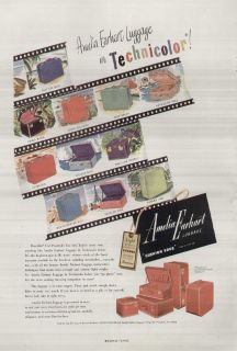 Amelia Earhart Luggage 1948 Vintage Ad Technicolor