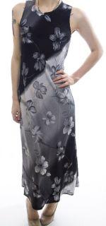 My Michelle Gray Black Ombre Floral Maxi Dress Floral Bias