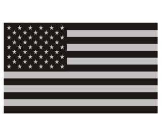 American Flag Decal Sticker 5x3 Subdued USA United States Military