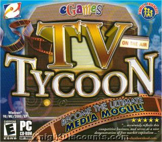TV Tycoon Television Media Sim PC Game New Box 743999132504