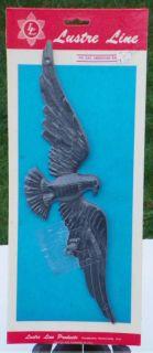 NOS Lustre Line Plastic American Patriotic Eagle Wall Plaque USA