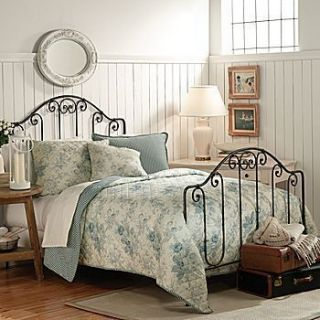 American Living Emily 4 Piece Full Queen Quilt Set Yellow and Blue