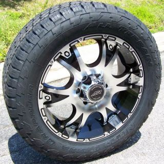 20 Black American Racing Wheels Rim Nitto Terra Grappler Tires Dodge