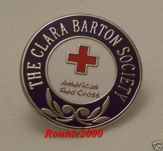 Clara Barton Society American Red Cross Pin