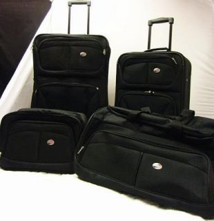 American Tourister Fieldbrook 4 Piece Luggage Set Black