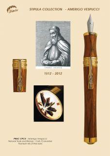 Fountain Pen Teak Wood Stipula Amerigo Vespucci Limited