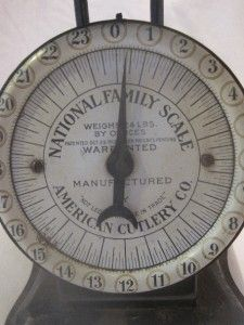 Antique National Family Scale American Cutlery Co Oct 1912
