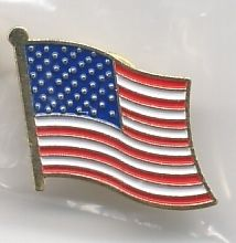 American Flag Lapel Pins Brand New
