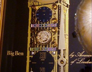 Mint Big Ben Wall Clock by Ammon of London Horological Collage Art