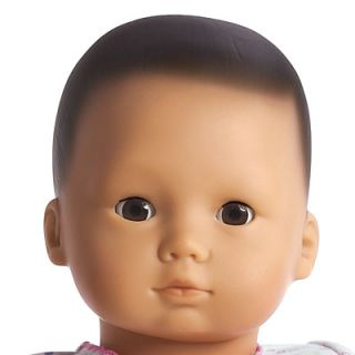 New American Girl Bitty Baby 2 Dolls Black Hair Light Skin Almond Eye