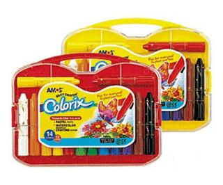 Amos Colorix 14 Stick Case Water Soluble Crayons