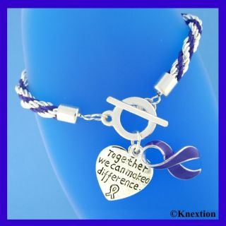 12 Purple Ribbon Relay for Life Cancer Alzheimers Fibromyalgia Charms