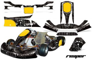 AMR Racing Graphic Sticker Kit Tony Kart Venox Parts Accessories Grim