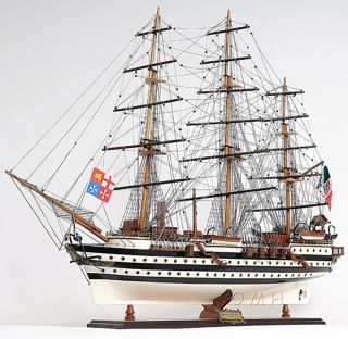 Italian Amerigo Vespucci Wooden Model Tall SHIP 36 Boat