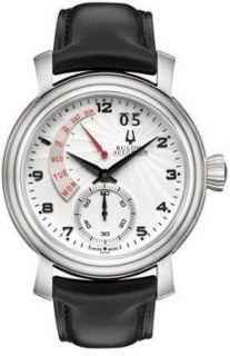 Accutron 63C102 Watch Amerigo Mens Silver Dial Stainless Steel Case