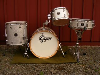Silver Sparke Gretsch Catalina Club 4 Piece Drum Shell Pack