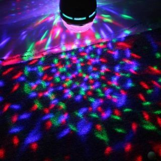 3W Colorful Rotating RGB 3 LED Spot Dome Light Bulb Lamp Stage