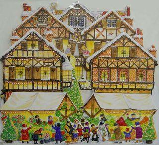 Christmas Market 3 D Pop Up Christmas Advent Calendar