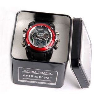 OHSEN Alarm Clock Light Women Mens Analog Sport Digital Quartz Wrist