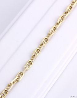 Mens Anchor Chain High Karat Bracelet 18K Solid Yellow Gold 20 5g