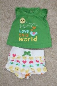 Girl Infant Baby Summer Clothes Outfit Newborn 3M Carters Gap