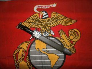 USMC Army 10 M1 American Fork Hoe Bayonet Scabbard Both with Flaming