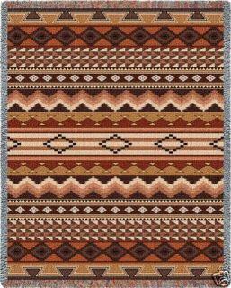 American Indian Native Pattern Bed Blanket Afghan Throw