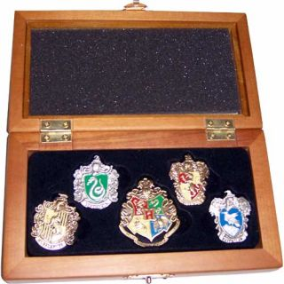 Harry Potter Noble Hogwarts House Crest Hand Enameled Pin Set