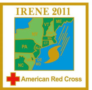 HURRICANE IRENE 2011 American Red Cross pin IF YOU HELPED GET THE PIN