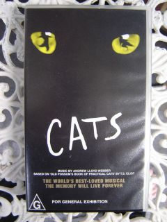 Cats The Musical Andrew Lloyd Webber as New VHS Video Registered