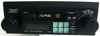 VINTAGE ALPINE 7269 CAR STEREO TUNER CASSETTE TAPE DECK SHAFT STYLE