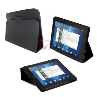 Leather Stand Folio Case Cover for HP Touchpad Tablet