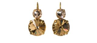 Andalusia Collection by Sorrelli 10K Gold Plated Earrings Cognac Brown